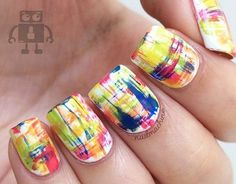 15 Awesome Dry Brush Nail Art Examples - http://slodive.com/nails-2/dry-brush-nail-art-examples/