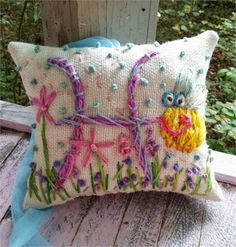 This is a custom made to order Initial Pillow by YelliKelli. You choose any letter. Choose any accent design or theme. Any colors.   THIS IS MY MEDIUM SIZE, 8 x 10.   Pillow is burlap, any color, and measures 8 x 10..   Coordinating print fabric on back.   Ships in about 10 days.   Yelli Kelli   HEY! Thats Cute!