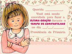 Convite e Oração - Menina