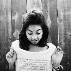 Why I Hate When You Say, Act Like a Lady  Confused about who the names on my shirt belong to? May I suggest reading a book? It's Women's History Month. Let's all go see the Vagina Monologues and build a shrine to Gloria Steinem…