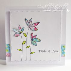 Katina's Cards and Chat: Sketchy Flowers
