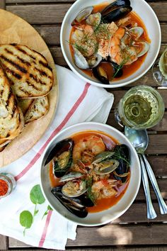 Bouillabaisse — famous fish soup from the South of France