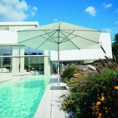 Sonnenschirme Aluline mit weißem Schirm | Fischer Möbel
