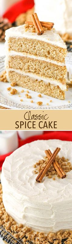 Spice Cake with Cream Cheese Frosting! A classic holiday cake!