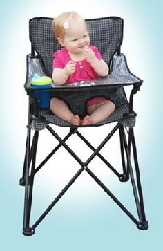 A must have! portable high chair great for outdoor events and camping or even small homes where space is a precious commodity!