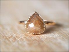 Walnut Diamond Ring - lily