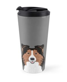 """""""Jordan - Shetland Sheep Dog gifts for sheltie owners and dog people gift ideas perfect dog gifts"""" Travel Mugs by PetFriendly   Redbubble"""