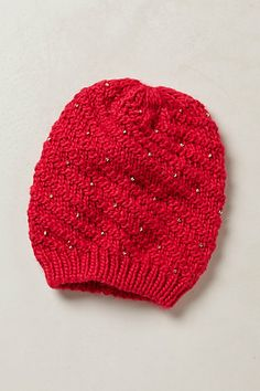 Beaded Beanie #anthropologie