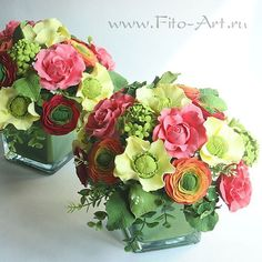 Давнишние букетики, лет пять назад лепила. #букет #флористика #ручнаяработа #handmade #flowers #vkpost #flowers #polymerclay #bouquet