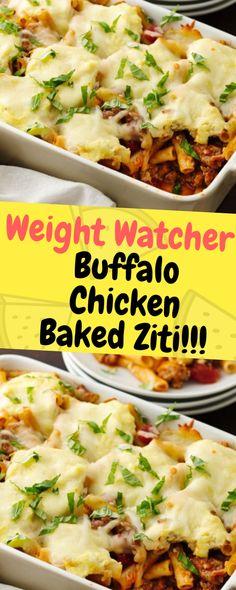 Jan 2020 - Sep Weight Watchers Buffalo Chicken Baked Ziti - One of food Skinny Recipes, Ww Recipes, Chicken Recipes, Cooking Recipes, Healthy Recipes, Duck Recipes, Recipies, Weight Watchers Desserts, Weight Watcher Dinners
