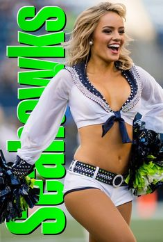 | Seahawks cheerleader | Boys will be boys. And they need their own space to spit, burp, and fart. To be boys. And to discover that girls are not. Real women understand this. And men (or rather guys) too timid to speak up become male cheerleaders. Male Cheerleaders, One Of The Guys, Baby Gates, Hate Men, Guys And Dolls, Gender Bender, Patriarchy, King James, Seattle Seahawks