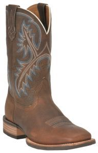 Ariat® Quickdraw™ Mens Brown Oiled Rowdy Double Welt Wide Square Toe Western Boots | Cavender's