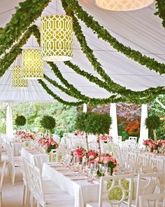 Lilly Pulitzer lovers -- this California affair was completely inspired by the designer's preppy prints!  Pick up the latest issue of #theknotmagazine to see more! #theknot  via /aarondelesie/ | Planner + Flowers: /florabellaweds/