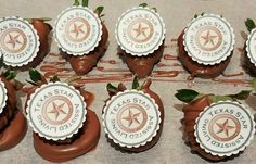 Edible Image Logo Chocolate Covered Strawberries