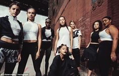 New range: Nike Women's plus-size collection features sports clothes - including tops, tights, hoodies, shorts and sports bras - in sizes from 1X to 3X