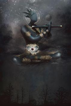 Umabel (an Angel) by Gedogfx (dvntart) Fantasy Concept Art, Dark Fantasy Art, Dark Art, Fantasy Creatures, Mythical Creatures, Character Concept, Character Art, Constellations, Ange Demon