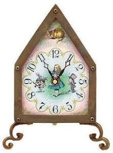 table clock in wonderland