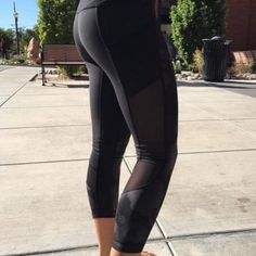 Lululemon Seek the Heat Crop Seek the Heat crops in solid BLACK. Size 10. I wish these fit but they are too big on me. These crops are different with the mesh detailing and super cute. Barely worn in like-new condition. Price firm as these are far and few to come by on here. lululemon athletica Pants