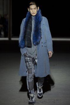 Blue fur at Dries Van Noten FW15