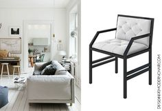 The Nando Modern chair is a contemporary masterpiece for your space. Tailored our chairs to your style; you select the frame color (Gold, Silver, Gloss White or Gloss Black) and you choose the seat material White Fabric. We handcraft your luxurious chair in our studio in Los Angeles.