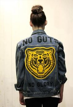 ☆ Rock 'n' Roll Style ☆ No Guts No Glory Denim Jacket