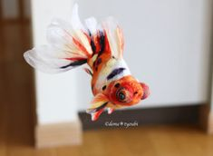 This artist has many examples of felted koi.