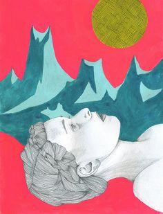 Staring at the Moon by Lisa Congdon