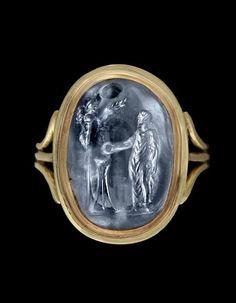 A Roman sapphire intaglio - Circa 2nd Century A.D.