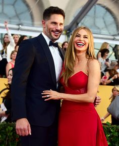A newly engaged Sofia Vergara hit the red carpet at Los Angeles' Shrine Auditorium on Sunday, Jan. 25 for the 2015 SAG Awards, turning heads in a Donna Karan gown paired with her massive engagement ring -- get details on her appearance with Joe Manganiello!