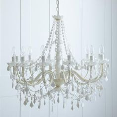 White Chandelier from Rigby