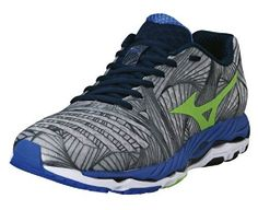 MIZUNO Wave Paradox Mens Running Shoes GreyGreenBlue US95 *** Find out more about the great product at the image link.