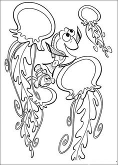 Marlin And Dory With Jellyfish Coloring Pages - Finding Nemo Coloring Pages : KidsDrawing – Free Coloring Pages Online Paisley Coloring Pages, Ocean Coloring Pages, Abstract Coloring Pages, Fish Coloring Page, Free Adult Coloring Pages, Online Coloring Pages, Coloring Pages For Girls, Cartoon Coloring Pages, Mandala Coloring Pages