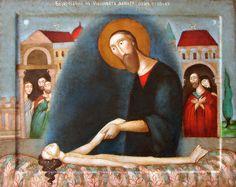 Воскрешение дочери Иаира Resurrection of Jairus's Daugher by Bulgarian artist Julia Stankova | 2017 painting on wooden panel