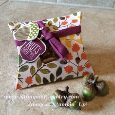 August 07, 2015 Stamping Country: Stampin' Up! Acorny Thank You Pillow Box