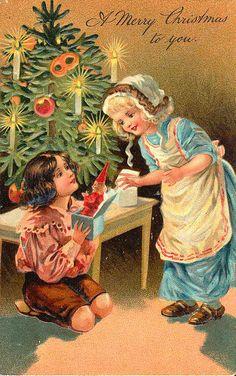 postcard.quenalbertini: Vintage Christmas Card - Photo, author lar20820639 on Yandex