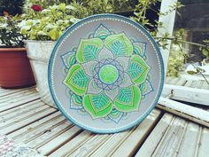 Hand painted decorative plate by Samskhara on Etsy
