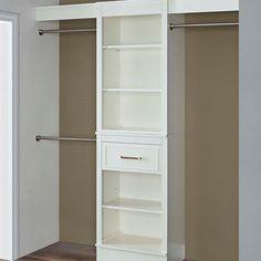 Latitude Run Parisian White Closet System Closet Storage Systems, Closet Shoe Storage, Closet System, Closet Organization, Locker Storage, Storage Solutions, Storage Ideas, Closet Bedroom, Closet Space