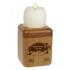 The Sunset Beach Candle Keepsake Urn is hand made of fine maple, and is engraved in the USA, by professional wood craftsmen. Keepsake Urns, Losing A Loved One, Sympathy Gifts, Farm Life, Perfume Bottles, Sunset Beach, Candles, Handmade, Usa
