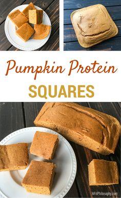 Pumpkin Protein Squares (via @AFitPhilosophy) #PumpkinEverything
