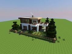 Cool Minecraft Modern House Picture from Minecraft. Modern as house. Minecraft Mods, Minecraft Villa, Architecture Minecraft, Modern Minecraft Houses, Minecraft Mansion, Minecraft Structures, Minecraft Houses Blueprints, Minecraft House Designs, Minecraft Creations