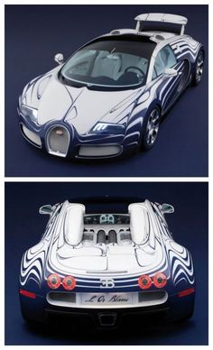 The Bugatti Veyron L'Or Blanc is the fastest (and only) porcelain car ever built. Click to be blown away! #Bugatti