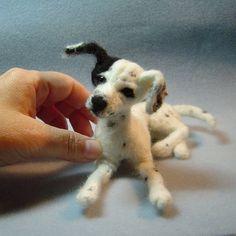 Custom Dog Portrait needle felted