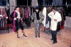 1977 - YSL & models by guy marineau