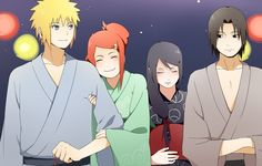minato? kushina? n who r the couple beside them... dont say that is sasuke's parents?! Kawaiii ne...