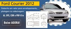 Ford Courier 2012 - Gabarito para plotagem - Bruno Di Souza