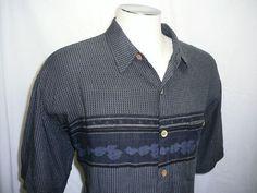 mens - M.E. SPORT - hawaiian - shirt - rayon - XL #MESport #Hawaiian