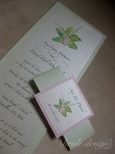 Invite by Bride Design, our WeddingStudio224 partner!    Orchid Invitation by Bride Design