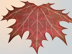 Ravelry: Maple Leaf Knit Shawl pattern by Natalia @ Elfmoda