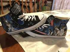 My custom hand painted converse. Thought you guys would appreciate them. Pretty much one of a kind. I'm in love with these shoes.