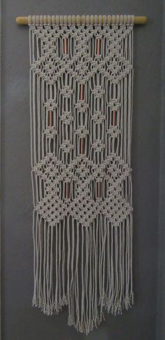 SALE Macrame wall hanging with copper beads by Jonatis on Etsy